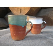 陶器のビアカップ(手作りの器)/ペアギフトセット(Box入り)